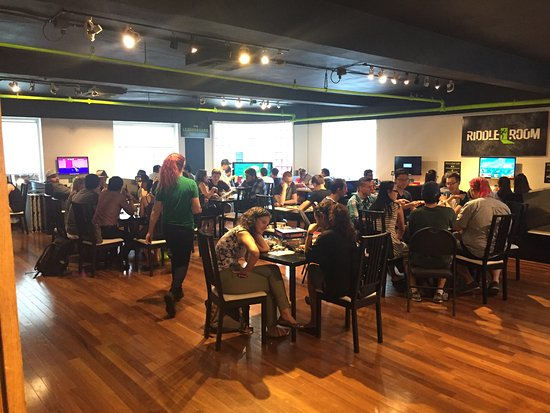 Riddle Room Cafe busy with game players. - Picture of Riddle Room ...