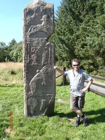 Inverurie, UK: I stood beside the stone to get a sense of scale