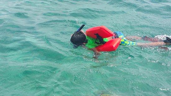Lil Alphonse Snorkeling: My 7 year old son