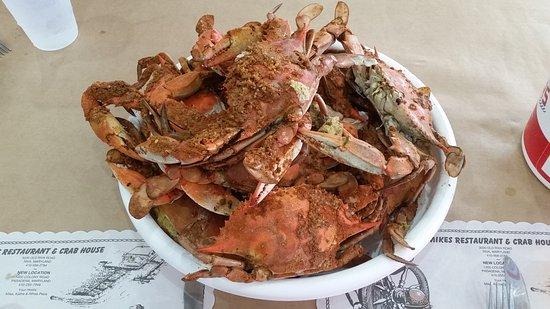 Pasadena, MD: a dozen large crabs
