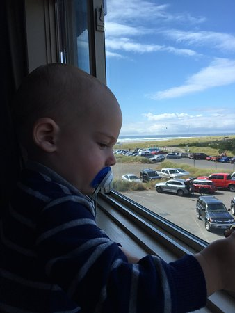 Long Beach, WA: This was our amazing view from the north side of the hotel! Our baby loved it!
