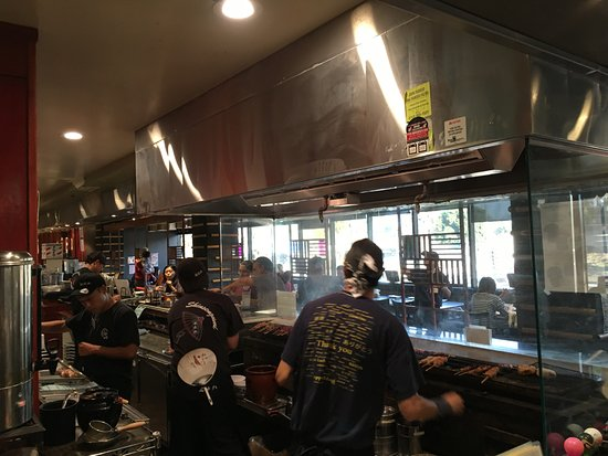 Monterey Park, CA: live action of Yakitori bar