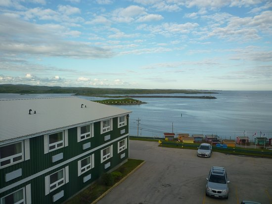 Port aux Basques, Canadá: View of the harbour from our room in the hotel.