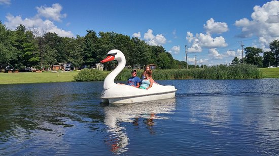 Warrens, WI: Paddle boats!