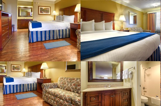 Monteagle, TN: Guest King Room, 1 king bed w/sleeper sofa, updated room and guest vanity areas.
