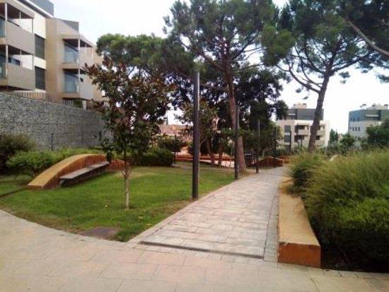 Sant Andreu de Llavaneres, Espanha: Interior parque