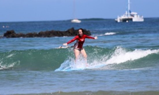 Get Lost In Costa Rica: surfing at the beach in Tamarindo