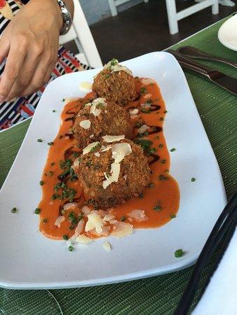 Simsbury, CT: Mushroom risotto balls