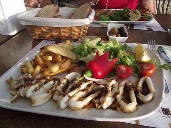 Grilled Calamari Castle Cafe-bar - Picture of Castle Cafe & Bistro ...