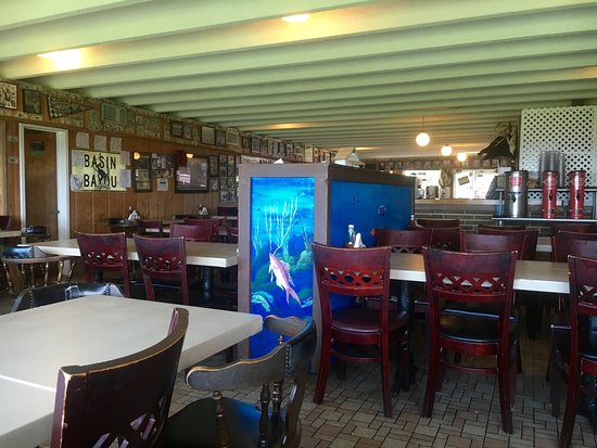 Nick S Seafood Interior Shot View Looking South Towards Destin Combo Shrimp And Fried