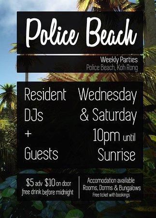 Police Beach Party: poster