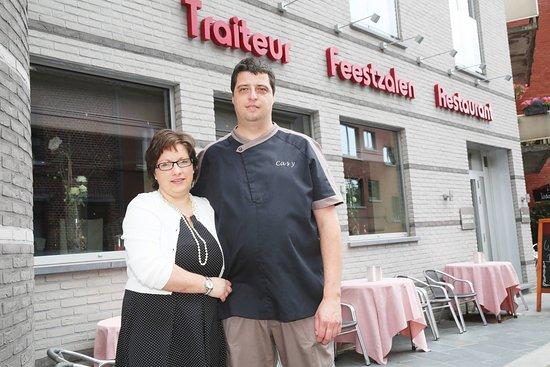Vlezenbeek, Belgia: Gastvrouw Katrijn en chef Davy.