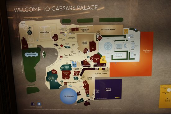 Map Of Caesars Palace Map   Picture of Caesars Palace, Las Vegas   TripAdvisor