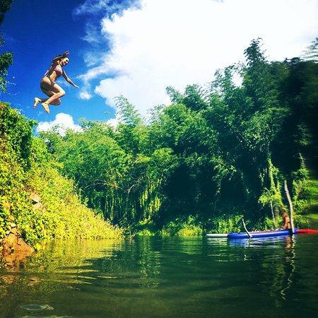 Cliff Jumping at Lashio Lakes
