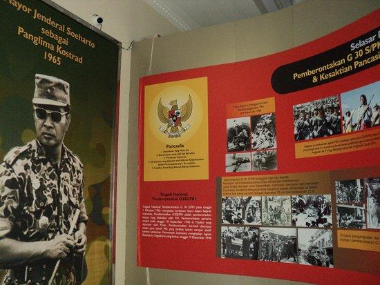 Bantul, Indonesien: Sekuen perjalanan karir militer HM.Soeharto disalah satu selasar