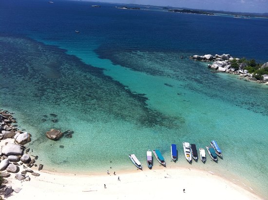 Tanjung Tinggi Beach: breath taking view from the light house in Belitung island