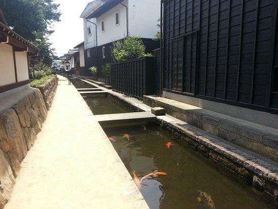 Hida, Japan: 瀬戸川と白壁の落ち着いた景観は採光にノスタルジック!