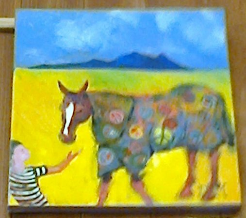 Anglesea:  This Hippy Horse artwork is a favourite of mine  [January 2016]