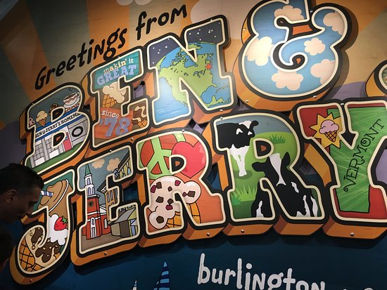 Ben & Jerry's: Welcome sign