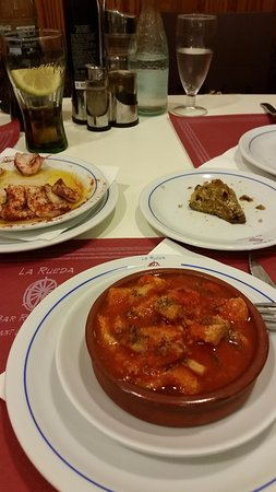 La Rueda Restaurant Bar : Panza, Oktopus,Omelette mit Gemüse