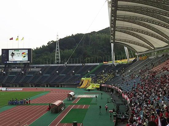 Kumamoto Athletics Stadium (Umakana Yokana Stadium) : メインスタンド