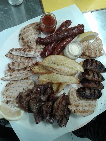 Messini, اليونان: Mix grill