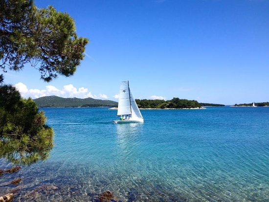 Jezera, Chorwacja: The view at our beautiful place.
