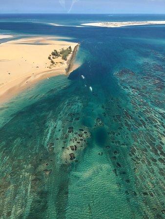 Vilanculos, Mosambik: Bazaruto from the air