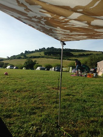 Chideock, UK: The view from our tent