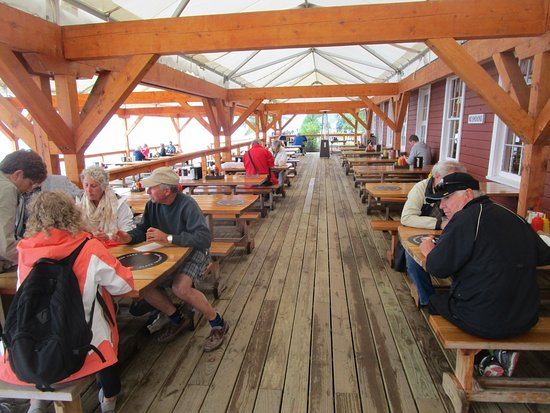 The Cookhouse - at Icy Strait Point: Cookhouse Restaurant - outside tables