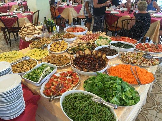 Bellariva, Italy: Buffet di sala a pranzo