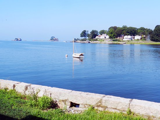 Branford, CT: View from Heron Room - Now that's a room with a view!
