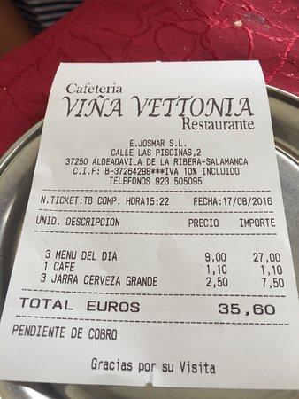 Vina Vettonia Aldeadavila De La Ribera Restaurant Bewertungen