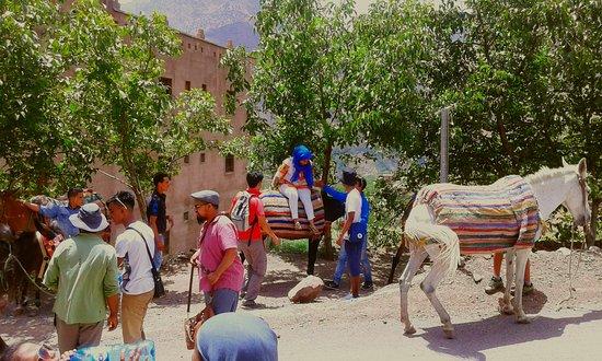 Lalla Takerkoust, Morocco: Lunch break after the mule ride in Imlil