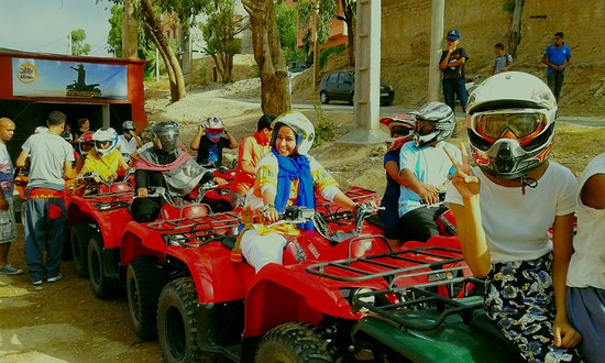 Lalla Takerkoust, Morocco: fun with the quad bikes on the way back from Imlil
