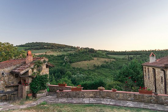 Agriturismo Podere Felceto: View from the dining patio