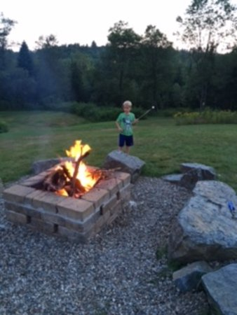 Barron Brook Inn: the fire pit for roasting marshmallows