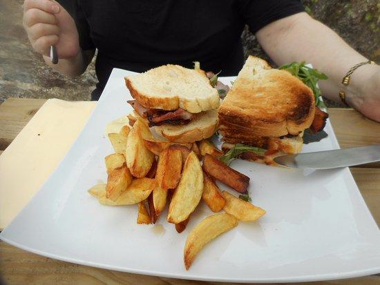 Wookey, UK: BLT sandwich - very tasty :-)