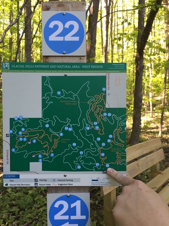Bellaire, MI: Trail map, very detailed and easy to follow.