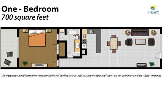 Legacy Vacation Resorts-Indian Shores: 1 Bedroom Floor Plan