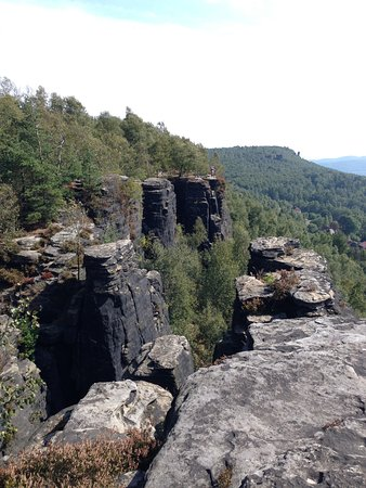 Tisa, Tsjechië: Tyssaer Wände - Aussichtspunkt