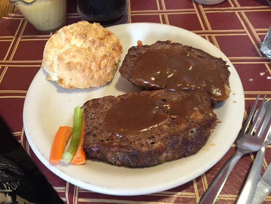 Walker, MI: Meatloaf and homemade biscuit