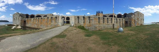 Phippsburg, ME : Panorama of Fort Popham State Historic Site.