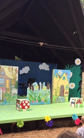 Stage for A Year With Frog and Toad at Cape Rep Theatre