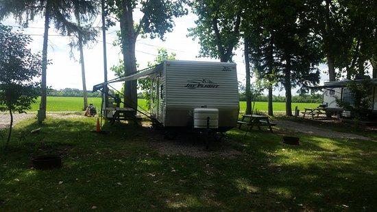 Camp Sandusky: View of our campsite from the road. This gives you an idea of the size/layout of the sites.