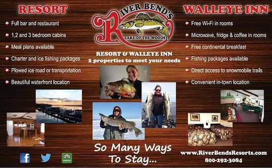 Brochure - Picture of River Bend Resort Restaurant, Baudette
