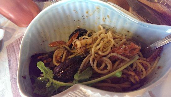 Kokkinidis Restaurant: Spaghetti mit Muscheln