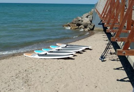 Stand Up Paddle Boards On Lake Erie Beach Picture Of Best