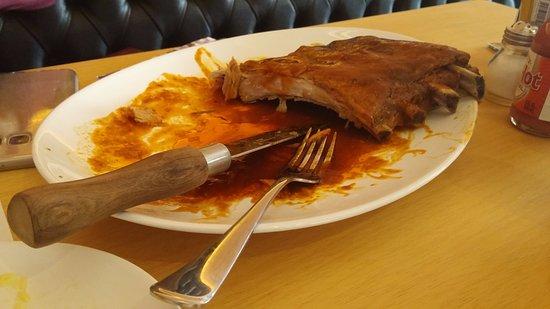 Restaurante Madero: Prato à mesa