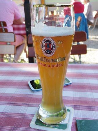 good beer! typical german beer garden